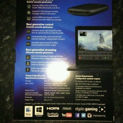 BARELY USED Elgato HD60 Capture Card (Xbox One/PS4/PC) | in