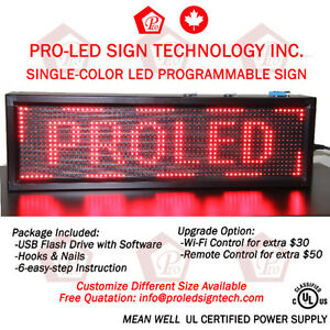 Scrolling LED Programmable Signs-Super Bright-FREE SHIPPING