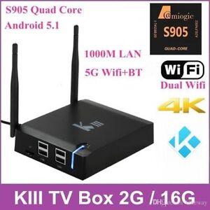 KIII K3 Smart TV BOX Android KODI MOVIES TV SHOW SPORTS