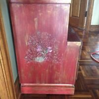 Solid wood commode