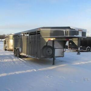 """2017 Calico 20 Ft Stock Trailer (6' 6"""" Tall)"""