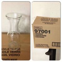 case of 12 Libbey Wine juice water bottle Carafe 1/2 Litre $20