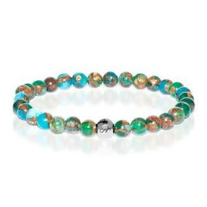 50% OFF All Jewellery - Calming   Silver Essence New Green Agate Bracelet