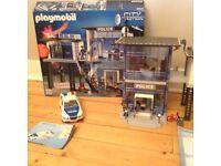 Playmobil Police Station, police car and my secret police station toys