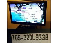 TOSHIBA TOS-32DL933B BUILT IN DVD PLAYER HD LED TV