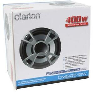 "Clarion Marine Audio Systems - CMQ2512W 10"" Single High Performance Marine Subwoofer"