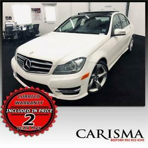 Move Up~'14 Benz C 350 4Matic~Nav~Pano Roof~ Warranty Included