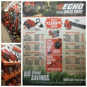 Echo Chainsaws, Cordless Tools, Hedge Clippers, Tillers & MORE!
