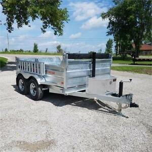 2019 K Trail 6 X 10 Galvanized Dump Trailer w/ Ramps