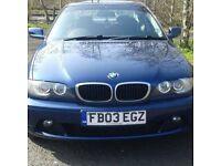 2003 BMW 3series 318ci e46 coupe MOT till august 2018 18inch alloys factory 6 disc cd changer.