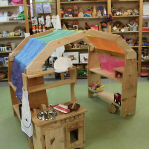 Wood toys, play kitchens, arches and more!