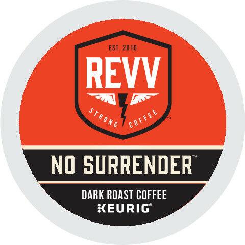 REVV NO SURRENDER Coffee, Keurig K-Cup Pod, Dark Roast, 96 Count