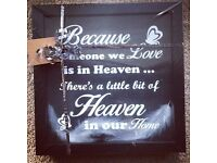 Black Framed Heaven in our Home Memorial Picture