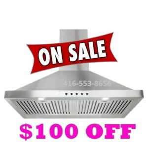 600 CFM Wall Mounted Style Range Hood Kitchen exhaust fan $299