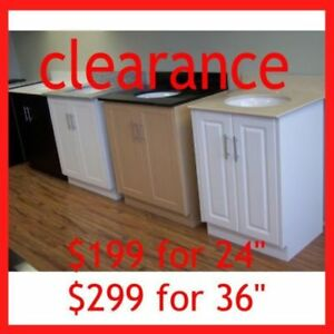 MDF Bathroom Vanities + Sink+ Top BLOW OUT SALE!