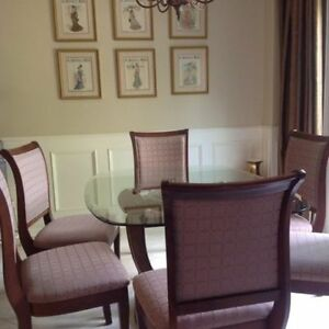 Beautifull designer solid maple dining chairs!
