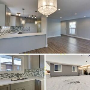 **5 Bed Renovated Bungalow In Millwoods! Double Heated Garage**