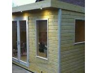 New garden room 16x9 fully insulated and double glazed