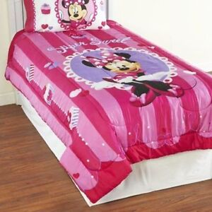 Complete Minnie Mouse Ensemble for bedroom with stickers  6 pc.