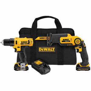 DEWALT 12-Volt Drill and Reciprocating Saw Kit - Brand new