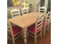 Stunning newly refurbished Table and six chair set