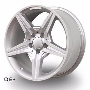 17x8 +35 66.6 5x112 in silver for Mercedes	BRAND NEW IN BOX C300 C250 ETC