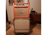 Orange Rockerverb 50 mkii 1x12 combo with flight case