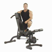 Body Solid Commercial Adjustable Bench + Leg Ext. - Top Rated!!