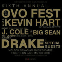 OVO @ Molson Amp - sect 303/304 hard tickets for DRAKE & J COLE