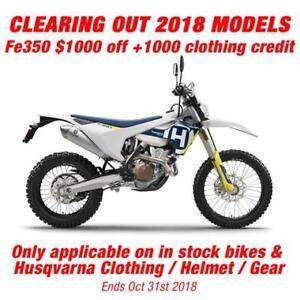 2018 Husqvarna FE 350 Dual Purpose Moto BEST PRICE! BEST SERVICE