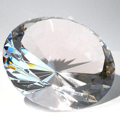 """Sensationeller 15 cm großer Deko Glas Diamant """"klar"""" mit 96 Facetten"""