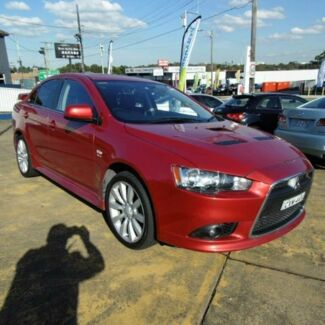 2011 Mitsubishi Lancer CJ MY11 Ralliart Maroon 6 Speed Direct Shift Sedan