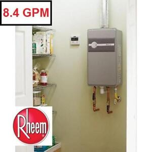 NEW RHEEM TANKLESS NG WATER HEATER ECO180DVLN3-1 132812143 NATURAL GAS INDOOR 8.4 GPM