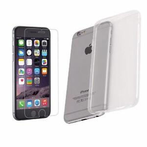 iPhone 6 / 6S / 6+/6S+ tempered glass protection & silicone case