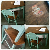 Child's vintage Table and Chair