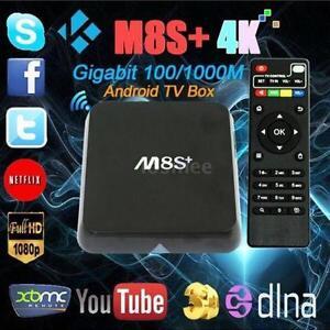 ???SPECIAL ??? M8S+ PLUS TV BOX IPTV JAILBREAK HD 4K KODI XBMC