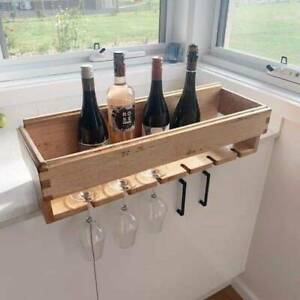 Hardwood bespoke wine rack