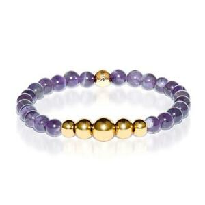 50% OFF All Jewellery - Intuitive | Gold Aura Amethyst Bracelet