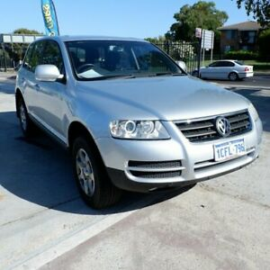 2006 Volkswagen Touareg 7L MY05 Luxury 4XMotion Silver 6 Speed Sports Automatic Wagon St James Victoria Park Area Preview