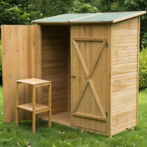 Double Door Garden Storage Shed / Teak Wood Garden Shed Outdoor