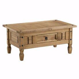 ** Sale Now On ** Corona Waxed Pine 1 Drawer Coffee Table