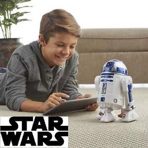 NEW STAR WARS SMART R2-D2 ROBOT - 105895759 - REMOTE CONTROL SMART APP ENABLED FIGURINE ROBOT