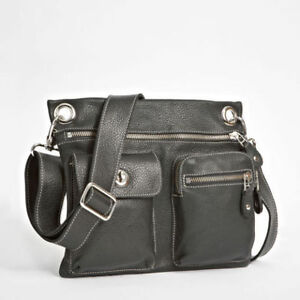Roots Village Crossbody Bag-Black