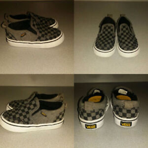 vans checker shoes (size 6c toddler)