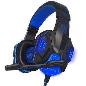 LED 3.5mm Stereo LED Lighting Over-Ear Headphone Headset Headban