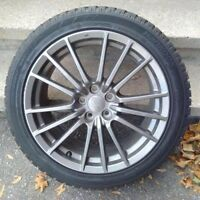 "17"" Subaru Alloy Wheels - Gun Metal wrx"