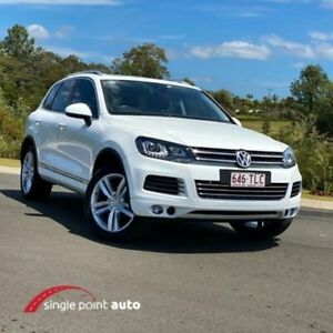 2013 Volkswagen Touareg 7P MY13 V6 TDI Tiptronic 4MOTION White 8 Speed Sports Automatic Wagon Chevallum Maroochydore Area Preview