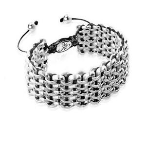 50% OFF All Jewellery - Silver Kismet Links   Black   DeluxeBracelet