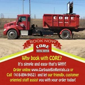 Dumpster Bin Rental. Order online. The same day delivery