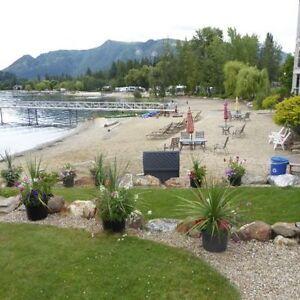 Mara Lake Sicamous vacation condo/ boat slip hot tub pool beach